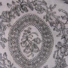 Antiquitäten - ANTIGUO ENCAJE DE CHANTILLY S. XIX - 57724028