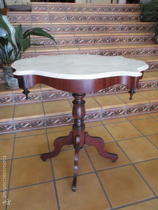 Antigua mesa de centro isabelina madera de vendido for Mesas de centro antiguas