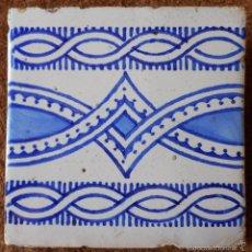 Antigüedades: AZULEJO DEL SIGLO XIX EN BLANCO Y AZUL. Lote 57733486