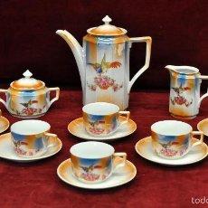 Antigüedades: COMPLETO JUEGO DE CAFÉ EN PORCELANA FRANCESA DE PRINCIPIOS DEL SIGLO XX. Lote 57734818