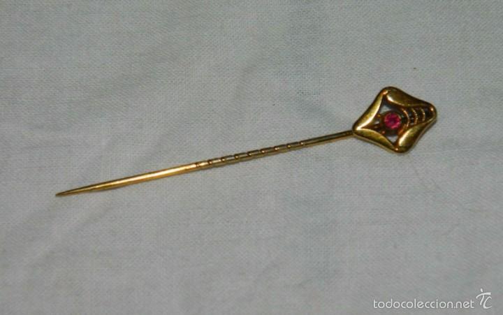 Antigüedades: Alfiler de corbata chapado en Oro - Foto 2 - 57740540