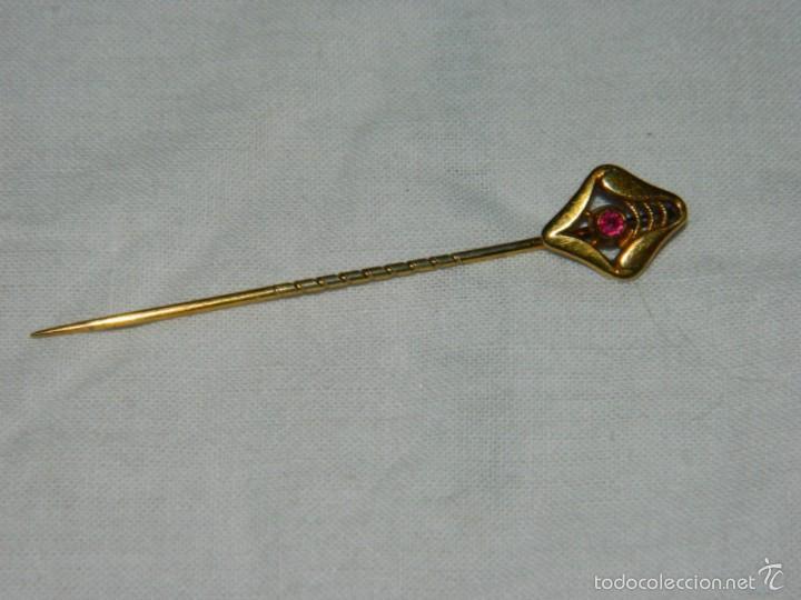 Antigüedades: Alfiler de corbata chapado en Oro - Foto 5 - 57740540