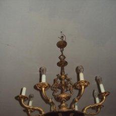 Antigüedades: ANTIGUA LÁMPARA DE BRONCE. Lote 57741723