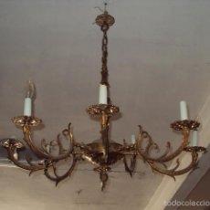 Antigüedades: ANTIGUA LÁMPARA DE BRONCE. Lote 57741839