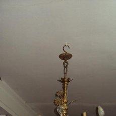 Antigüedades: ANTIGUA LÁMPARA DE BRONCE. Lote 57741989