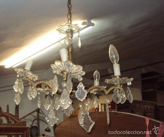 Antigüedades: Antigua lámpara de bronce - Foto 2 - 57742147