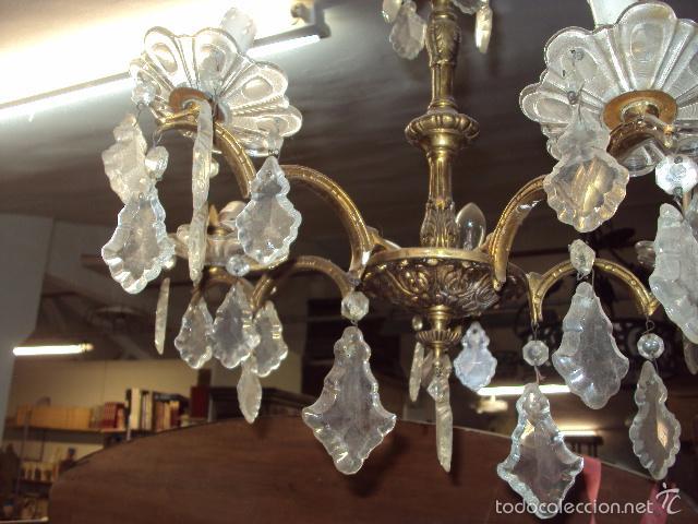 Antigüedades: Antigua lámpara de bronce - Foto 3 - 57742147