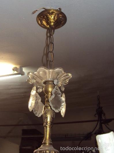 Antigüedades: Antigua lámpara de bronce - Foto 4 - 57742147
