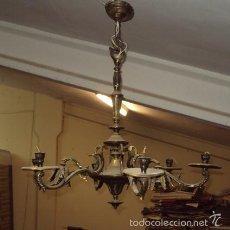 Antigüedades: ANTIGUA LÁMPARA DE BRONCE. Lote 57742194