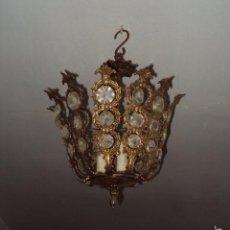 Antigüedades: ANTIGUA LÁMPARA DE BRONCE. Lote 57742373