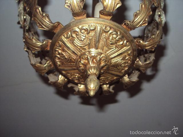 Antigüedades: Antigua lámpara de bronce - Foto 3 - 57742373