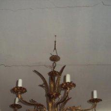Antigüedades: ANTIGUA LÁMPARA DE BRONCE. Lote 57743027