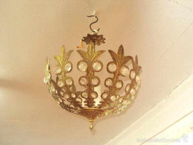 LÁMPARA DE BRONCE (Antigüedades - Iluminación - Lámparas Antiguas)