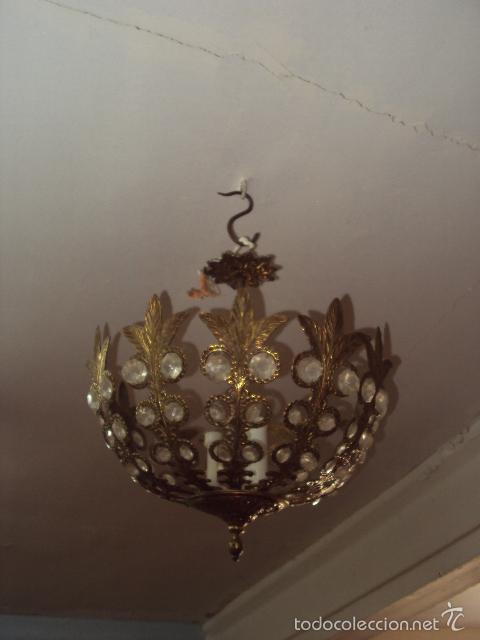 Antigüedades: Lámpara de bronce - Foto 2 - 57743065