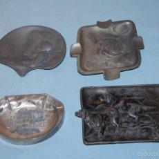 Antigüedades: CUATRO CENICEROS MODERNISTAS DE 1920 EN METAL . Lote 57743234