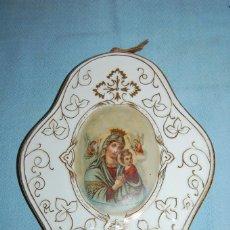 Antigüedades: PLAFÓN EN CERÁMICA ESPAÑOLA TEMA RELIGIOSO. Lote 57744856