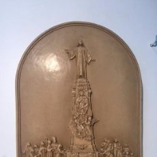 Antigüedades: RELIEVE RELIGIOSO, SAGRADO CORAZON REINO ESPAÑA.. Lote 57751914
