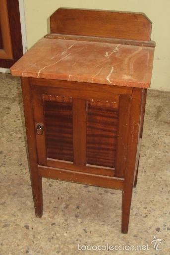 MESILLA DE MADERA FINAL ART DECO (Antigüedades - Muebles Antiguos - Veladores Antiguos)