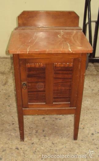 Antigüedades: Mesilla de madera final art deco - Foto 2 - 57762814