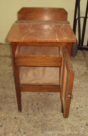 Antigüedades: Mesilla de madera final art deco - Foto 3 - 57762814