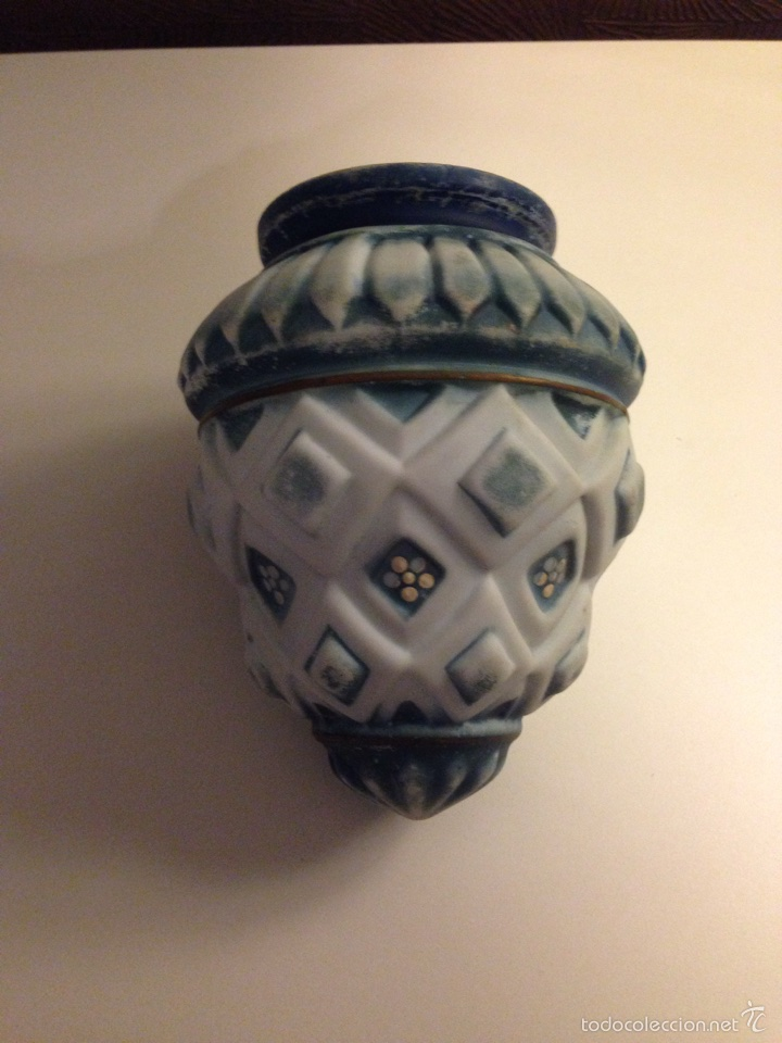 Antigüedades: Tulipa de cristal pintada años/20 MODERNISTA - Foto 2 - 57773929