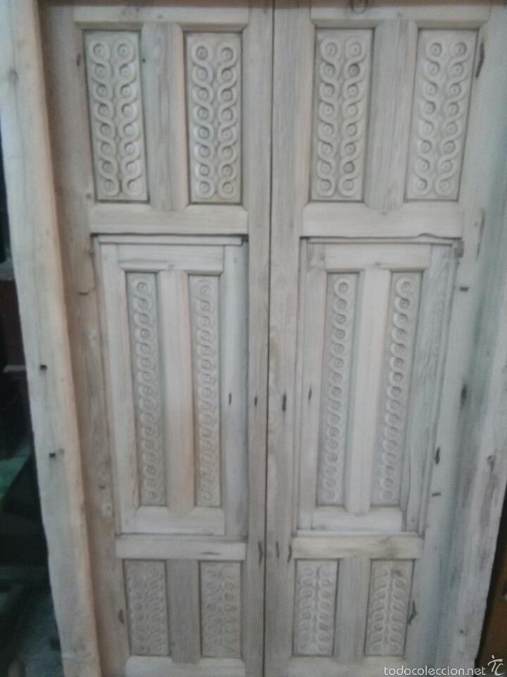 Antigüedades: 2 Parejas Ventanas de madera 2 juegos - Foto 3 - 57790813
