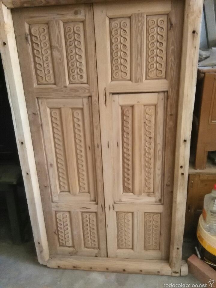 Antigüedades: 2 Parejas Ventanas de madera 2 juegos - Foto 7 - 57790813