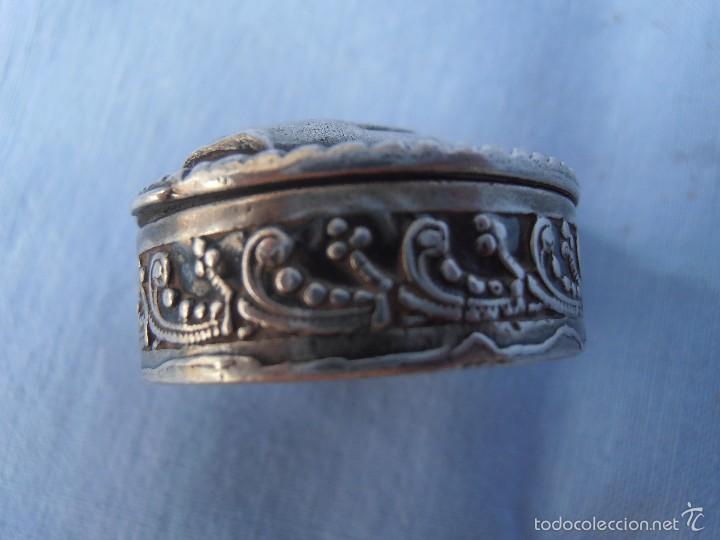 Antigüedades: Antigua Cagíta de plata de ley - Foto 2 - 57799280