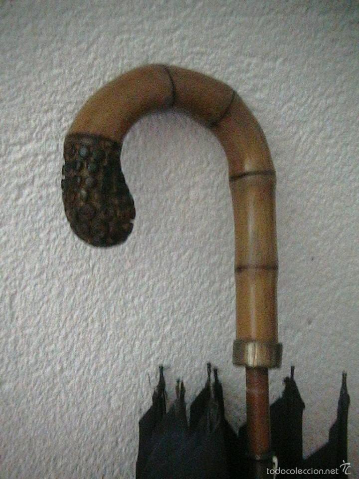 Antigüedades: paraguas antiguo bambu inglés sombrilla - Foto 4 - 57800626