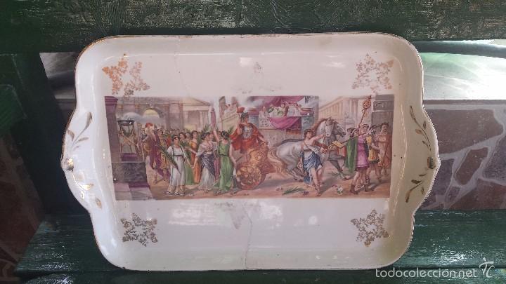 ANTIGUA BANDEJA DE LA CARTUJA, PRECIOSA (Antigüedades - Porcelanas y Cerámicas - San Juan de Aznalfarache)