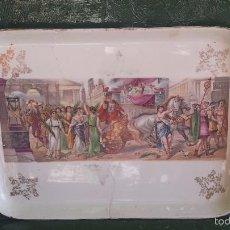 Antigüedades: ANTIGUA BANDEJA DE LA CARTUJA, PRECIOSA. Lote 57800817