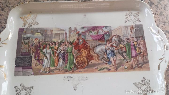 Antigüedades: antigua bandeja de la cartuja, preciosa - Foto 2 - 57800817
