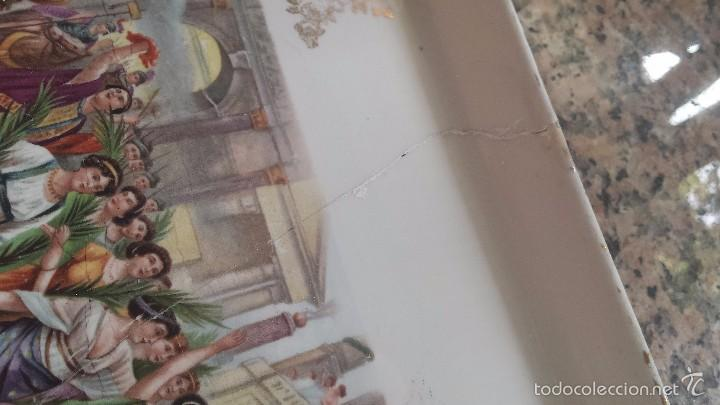 Antigüedades: antigua bandeja de la cartuja, preciosa - Foto 3 - 57800817
