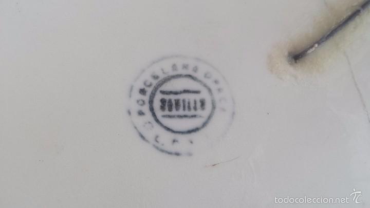 Antigüedades: antigua bandeja de la cartuja, preciosa - Foto 7 - 57800817