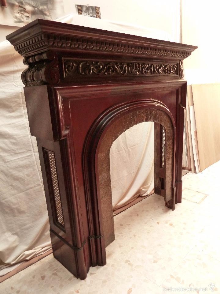 Chimenea noble y grande de caoba para cubrir comprar - Comprar muebles antiguos ...