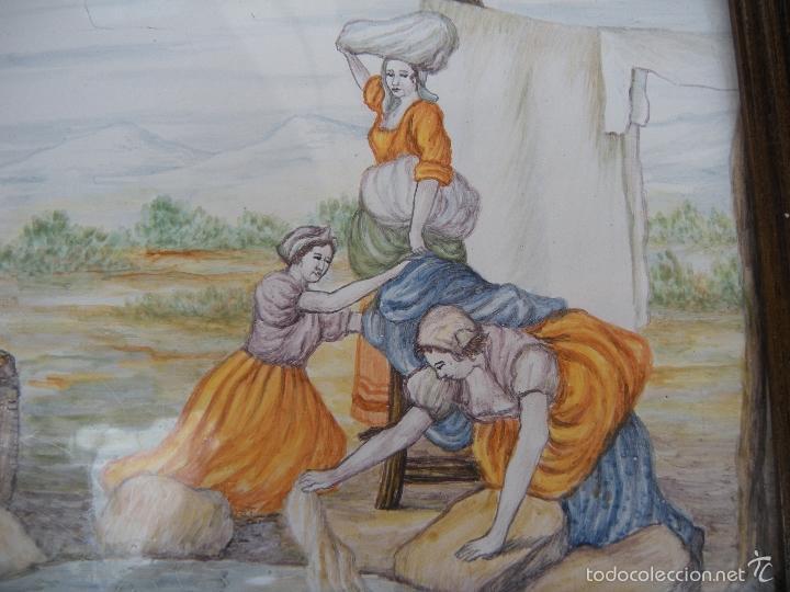 Antigüedades: AZULEJO DE ALCORA, LAVANDERAS - Foto 6 - 57809755