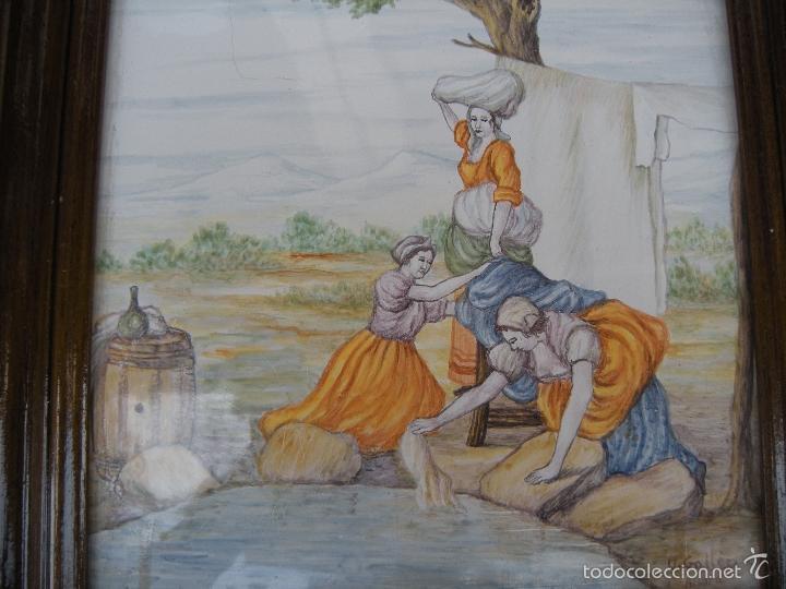 Antigüedades: AZULEJO DE ALCORA, LAVANDERAS - Foto 7 - 57809755