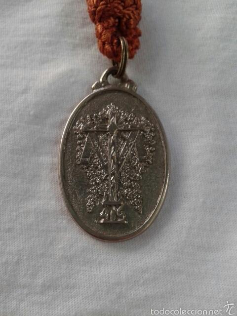 Antigüedades: MEDALLA HERMANDAD DE LA SANTA CRUZ DE EL ALAMO, SEVILLA - Foto 2 - 72301051
