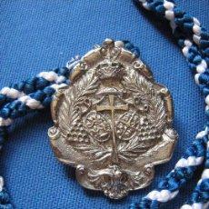 Antigüedades: SEMANA SANTA SEVILLA - MEDALLA CON CORDON DE LA HERMANDAD DE LOS NEGRITOS. Lote 57823320
