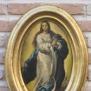 Antigüedades: CUADRO CON LAMINA VIRGEN PURISIMA CONCEPCION.. Lote 57828428