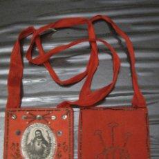 Antigüedades: ESCAPULARIO ANTIGUO DOBLE.. Lote 57828982