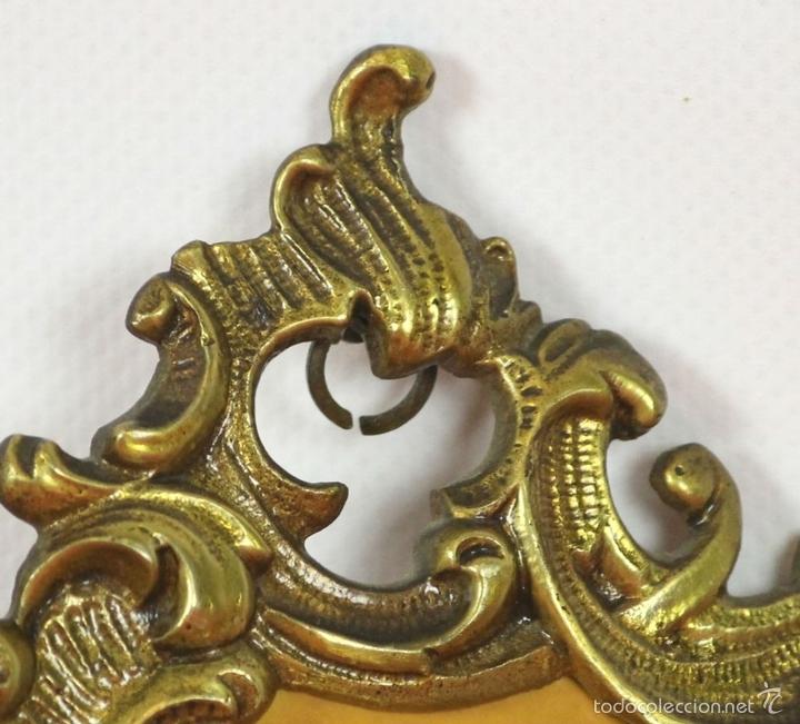 Antigüedades: PAREJA DE CORNUCOPIAS EN METAL DORADO. MOTIVOS FLORALES. EUROPA. SIGLO XIX-XX. - Foto 4 - 57829750