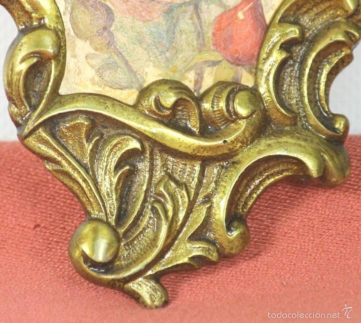Antigüedades: PAREJA DE CORNUCOPIAS EN METAL DORADO. MOTIVOS FLORALES. EUROPA. SIGLO XIX-XX. - Foto 8 - 57829750