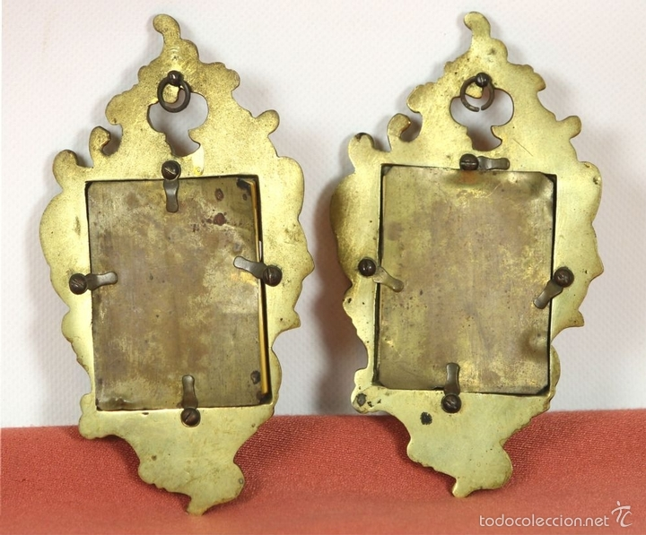 Antigüedades: PAREJA DE CORNUCOPIAS EN METAL DORADO. MOTIVOS FLORALES. EUROPA. SIGLO XIX-XX. - Foto 10 - 57829750