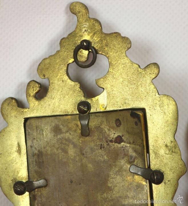Antigüedades: PAREJA DE CORNUCOPIAS EN METAL DORADO. MOTIVOS FLORALES. EUROPA. SIGLO XIX-XX. - Foto 12 - 57829750