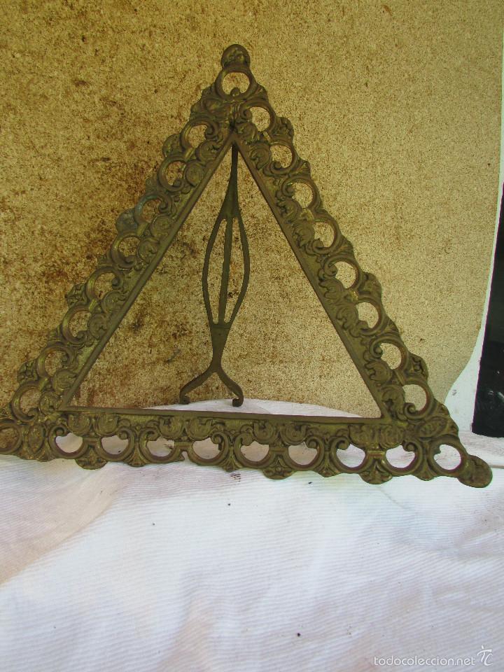 marco de bronce con soporte trasero. forma tri - Comprar Marcos ...