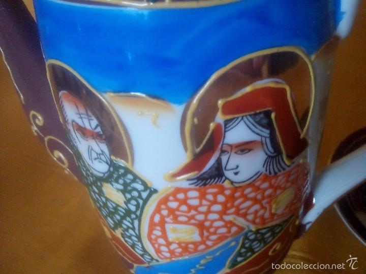Antigüedades: CASI REGALO. JUEGO TE - CAFÉ JAPONES. PRECIOSO. PINTADO A MANO. DORADOS. CARA GEISHA EN FONDO TAZAS. - Foto 7 - 228615660