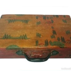 Antigüedades: MALETA PEQUEÑA DECORADA AL ESTILO ANTIGUO, TOSCANA.. Lote 57830298