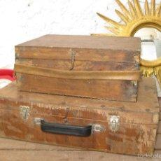 Antigüedades: VER FOTOS! 2 MALETA MALETIN ANTIGUA IDEAL ALMACENAJE USO HERRAMIENTAS DECORACION VINTAGE. Lote 57842381