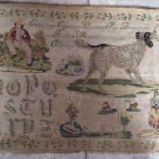 Antigüedades: TELA BORDADA FECHADA EN 1852. Lote 57845306